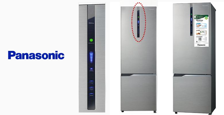 Tủ lạnh được trang bị bảng điều khiển đèn LED bên ngoài rất tiện lợi. Phím điều chỉnh trên bảng điều khiển giúp bạn dễ dàng thiết lập chế độ vận hành của tủ. Bảng điều khiển này giúp bạn có thể điều khiển ngay cả khi đóng tủ. Đèn hiển thị LED màu xanh biển giúp bạn dễ dàng xác định các mức lựa chọn.