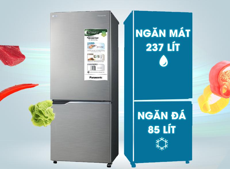 Tủ lạnh Panasonic NR-BV368QSVN 322 lít