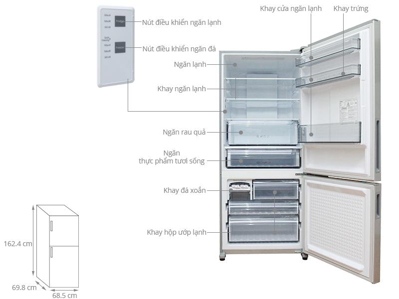 Thông số kỹ thuật Tủ lạnh Panasonic Inverter 363 lít NR-BX418VSVN