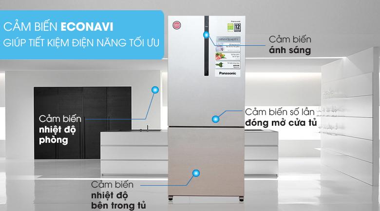 tiêu thụ ít điện - Tủ lạnh Panasonic Inverter 363 lít NR-BX418VSVN