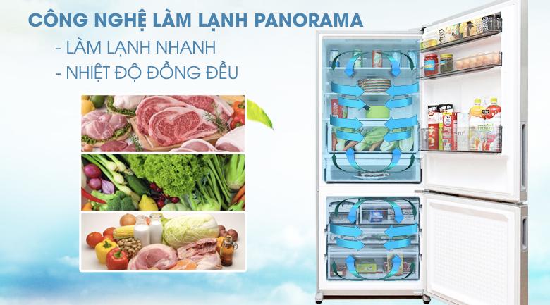 Làm lạnh nhanh và đều với công nghệ làm lạnh Panorama - Tủ lạnh Panasonic Inverter 363 lít NR-BX418VSVN
