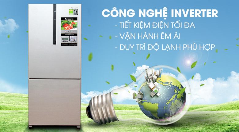 Tiết kiệm năng lượng vượt trội - Tủ lạnh Panasonic Inverter 363 lít NR-BX418VSVN