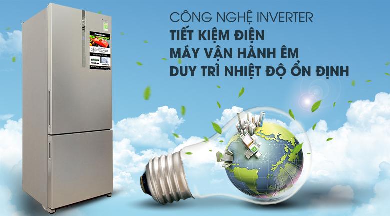 Tiết kiệm năng lượng tối đa - Tủ lạnh Panasonic Inverter 405 lít NR-BX468XSVN