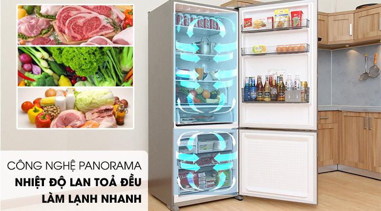 Hệ thống làm lạnh Panorama giúp làm lạnh nhanh và đều - Tủ lạnh Panasonic Inverter 405 lít NR-BX468XSVN