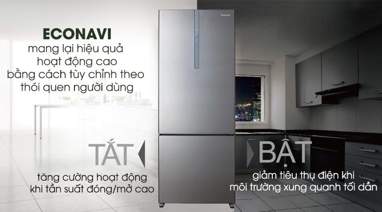 Tiết kiệm điện Econavi - Tủ lạnh Panasonic Inverter 405 lít NR-BX468XSVN