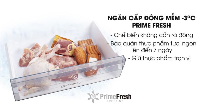 Ngăn đông mềm Prime Fresh tiết kiệm thời gian vào bếp - Tủ lạnh Panasonic Inverter 405 lít NR-BX468XSVN