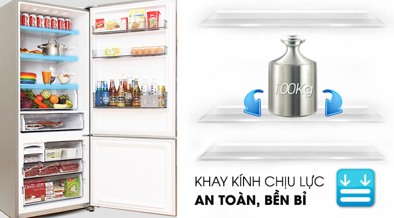 Ngăn rau củ rộng và giữ ấm tốt - Tủ lạnh Panasonic NR-BX468XSVN 405 lít