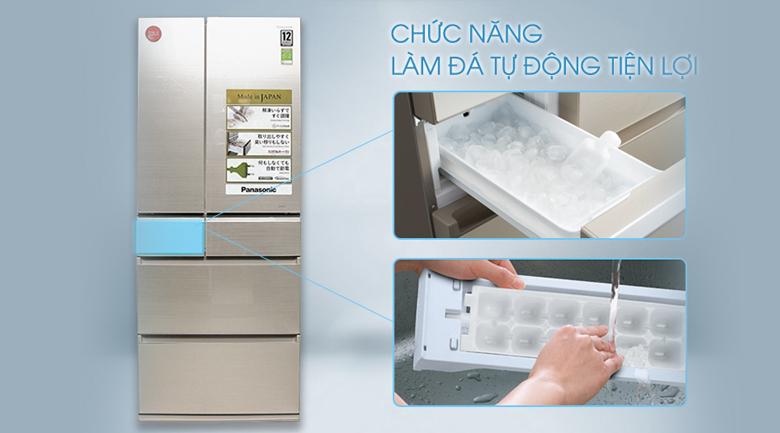 Làm đá tự động nhanh chóng, tiện lợi - Tủ lạnh Panasonic Inverter 588 lít NR-F610GT-N2