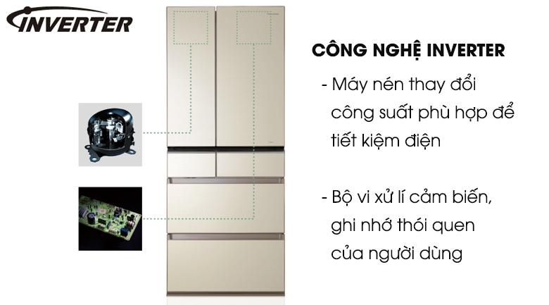 Công nghệ Inverter giúp tiết kiệm điện năng hiệu quả - Tủ lạnh Panasonic Inverter 588 lít NR-F610GT-N2