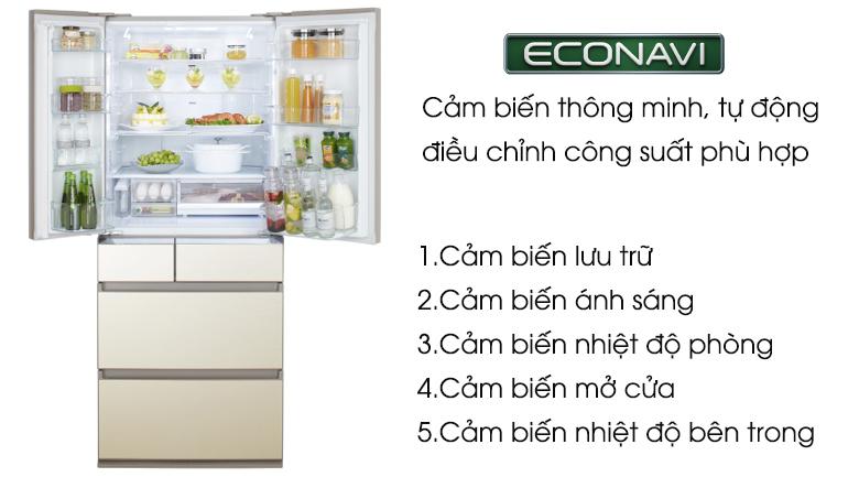 Econavi - Tủ lạnh Panasonic Inverter 588 lít NR-F610GT-N2