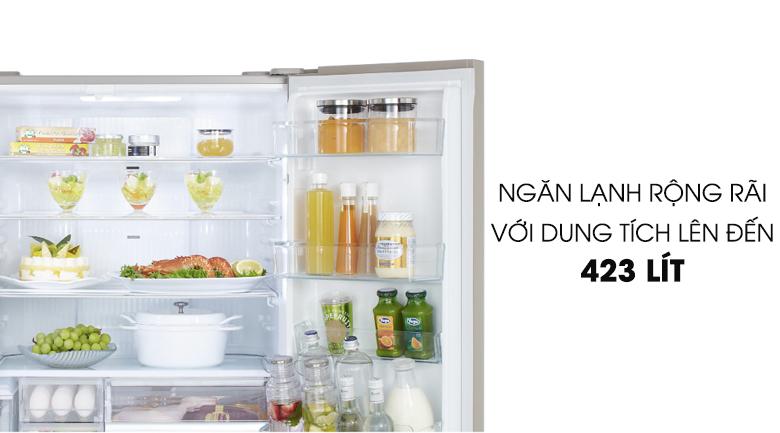 Ngăn chứa lớn thoải mái cất trữ và thưởng thức thực phẩm - Tủ lạnh Panasonic Inverter 588 lít NR-F610GT-N2