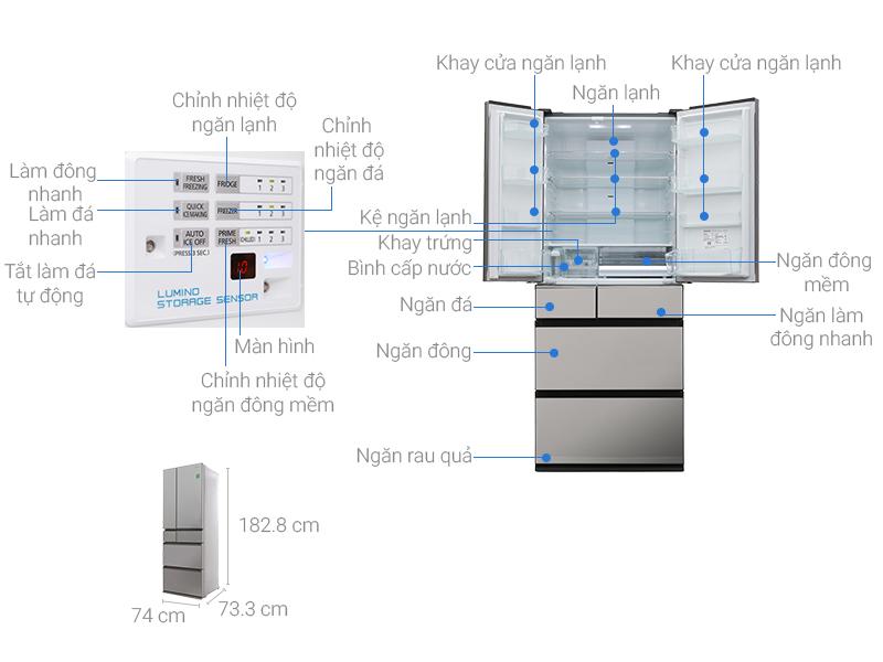 Thông số kỹ thuật Tủ lạnh Panasonic Inverter 588 lít NR-F610GT-X2