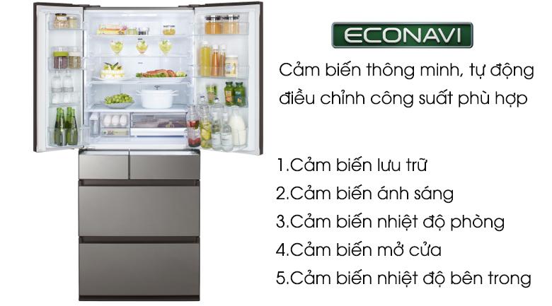 Cảm biến Econavi  - Tủ lạnh Panasonic Inverter 588 lít NR-F610GT-X2