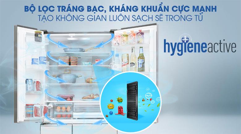 Kháng khuẩn tinh thể bạc Ag Clean - Tủ lạnh Panasonic Inverter 588 lít NR-F610GT-X2