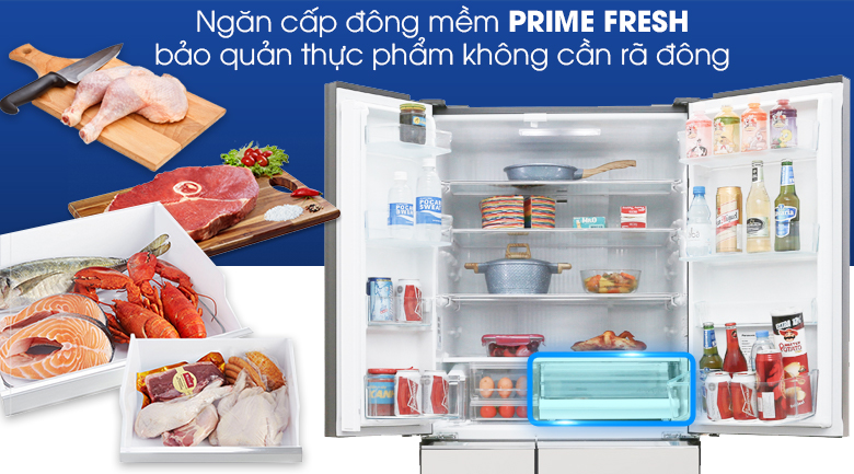 Ngăn đông mềm Prime Fresh - Tủ lạnh Panasonic Inverter 588 lít NR-F610GT-X2