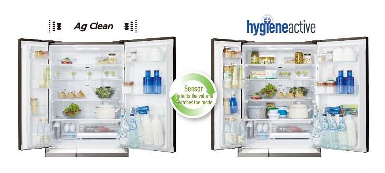 Công nghệ Hygiene Active và Ag Clean chuyển đổi với nhau khi lượng thức ăn thay đổi