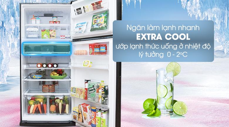 Tủ lạnh Sharp SJ-XP590PG-BK 585 lít - Ngăn ướp lạnh