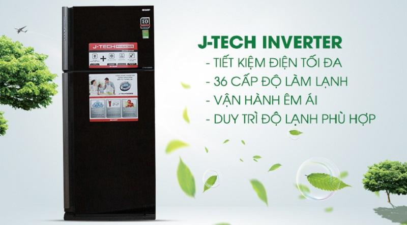 Tiết kiệm năng lượng tối ưu với công nghệ J-Tech Inverter - Tủ lạnh Sharp Inverter 585 lít SJ-XP590PG-BK