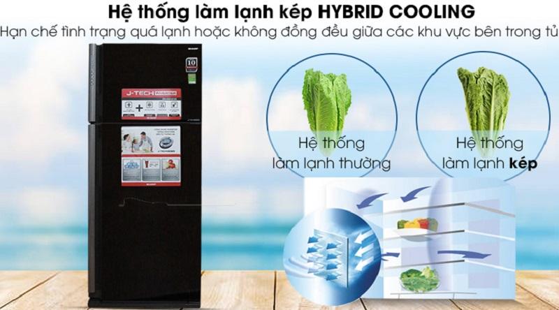 Làm lạnh mạnh mẽ và nhanh chóng với hệ thống làm lạnh kép - Tủ lạnh Sharp Inverter 585 lít SJ-XP590PG-BK
