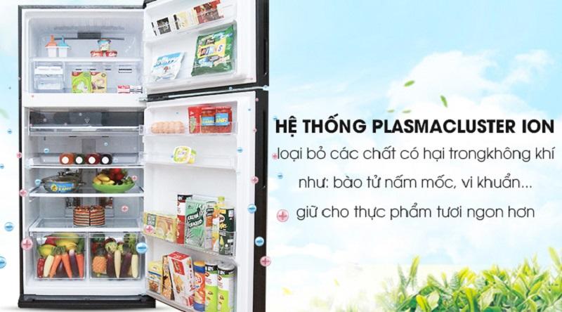 Công nghệ Plasmacluster ion giúp loại bỏ vi khuẩn gây hại - Tủ lạnh Sharp Inverter 585 lít SJ-XP590PG-BK