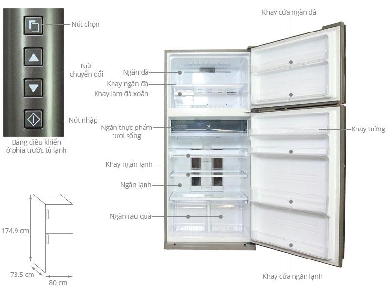 Thông số kỹ thuật Tủ lạnh Sharp 585 lít SJ-XP590PG-SL