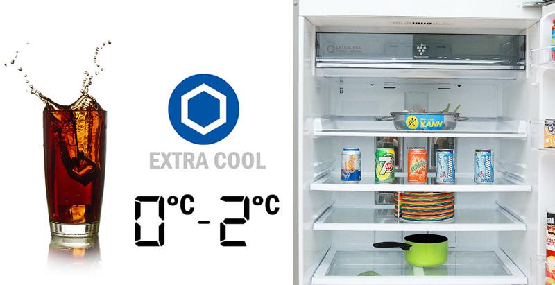 Bạn sẽ yên tâm với việc mọi thức uống đều được làm lạnh một cách nhanh chóng và giữ lạnh lâu nhất nhờ tủ lạnh Sharp SJ-XP590PG-SL