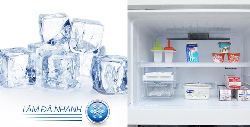Quy trình làm đá nhanh của tủ lạnh Sharp SJ-XP590PG-SL nhanh hơn 1.5 lần