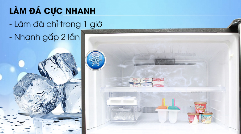 Khả năng làm lạnh và làm đá nhanh chóng - Tủ lạnh Sharp Inverter 627 lít SJ-XP630PG-BK