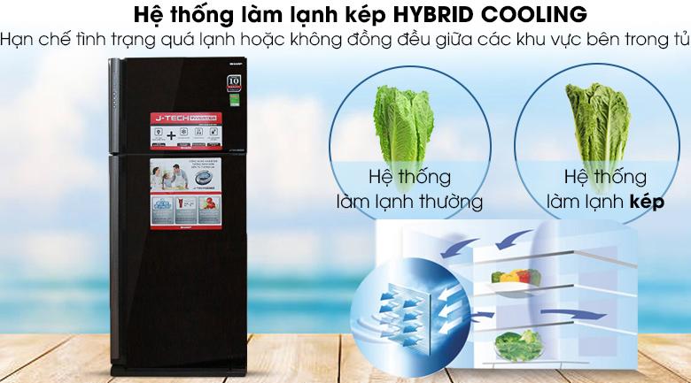 Hệ thống làm lạnh kép - Tủ lạnh Sharp Inverter 627 lít SJ-XP630PG-BK
