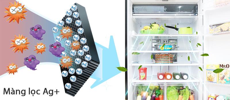 Phân tử bạc Nano Ag  khử sạch mùi hôi tủ lạnh