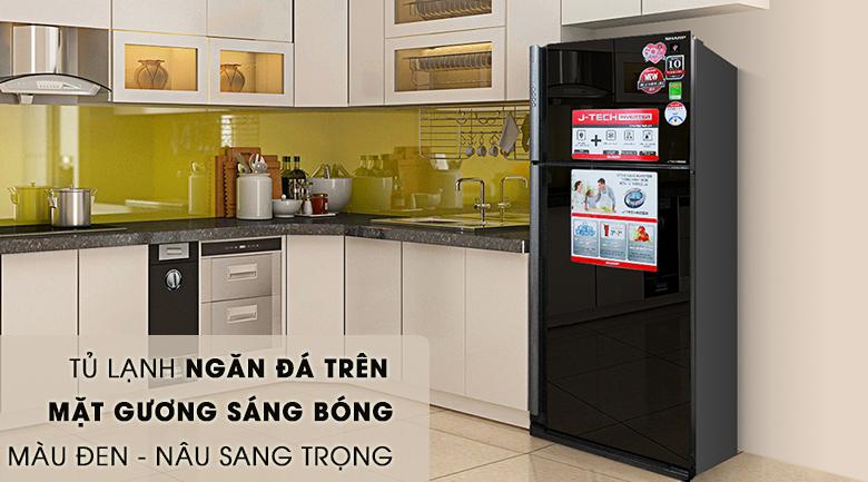 Thiết kế sang trọng - Tủ lạnh Sharp Inverter 627 lít SJ-XP630PG-BK