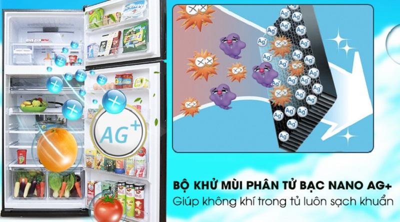 Phân tử bạc Nano Ag+ khử sạch mùi hôi tủ lạnh - Tủ lạnh Sharp Inverter 627 lít SJ-XP630PG-BK