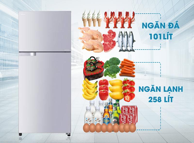 Tủ lạnh Toshiba GR-T41VUBZ LS1 có thiết kế sang trọng cùng những đường nét sắc sảo mà đẹp mắt