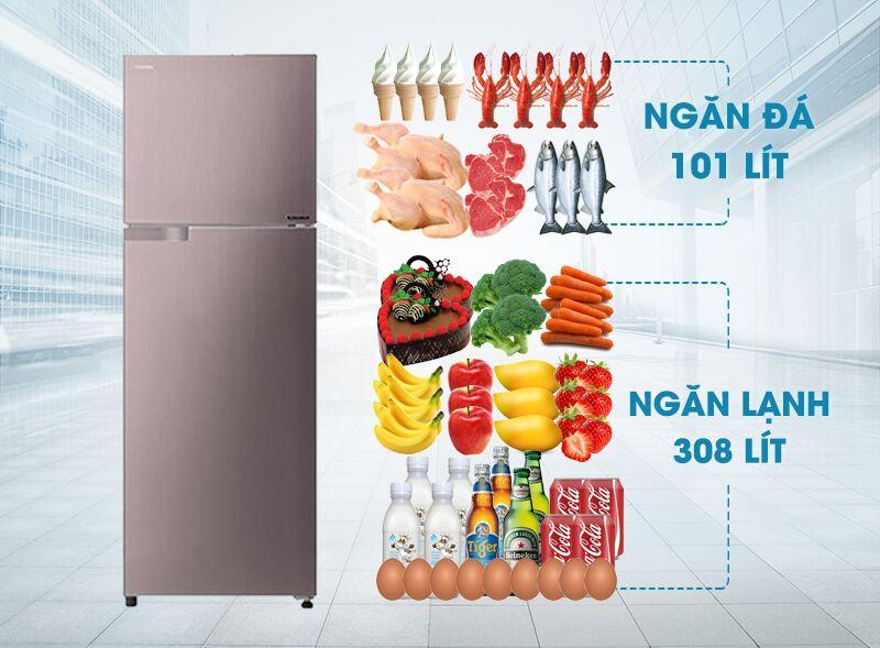Tủ lạnh Toshiba GR-T46VUBZ N1 có sở hữu công nghệ Inverter