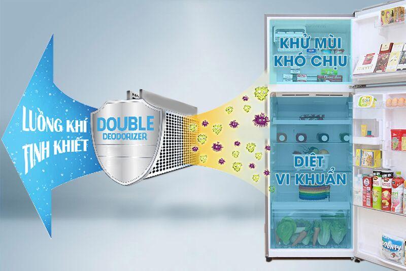 Với công nghệ khử mùi kép, tủ lạnh Toshiba GR-T46VUBZ N1 đã đem lại cho những bạn khác khả năng khử mùi tốt