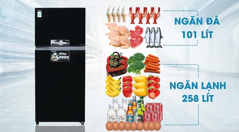 Dung tích - Tủ lạnh Toshiba Inverter 359 lít GR-TG41VPDZ