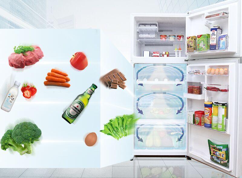Công nghệ luồng khí lạnh có hình vòng cung của tủ lạnh Toshiba GR-TG41VPDZ (ZW1) mang đến cho các bạn sự làm lạnh tuyệt đối