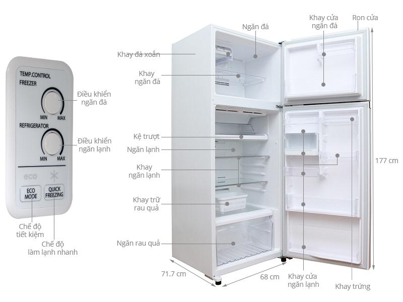 Thông số kỹ thuật Tủ lạnh Toshiba 409 lít GR-TG46VPDZ (ZW1)
