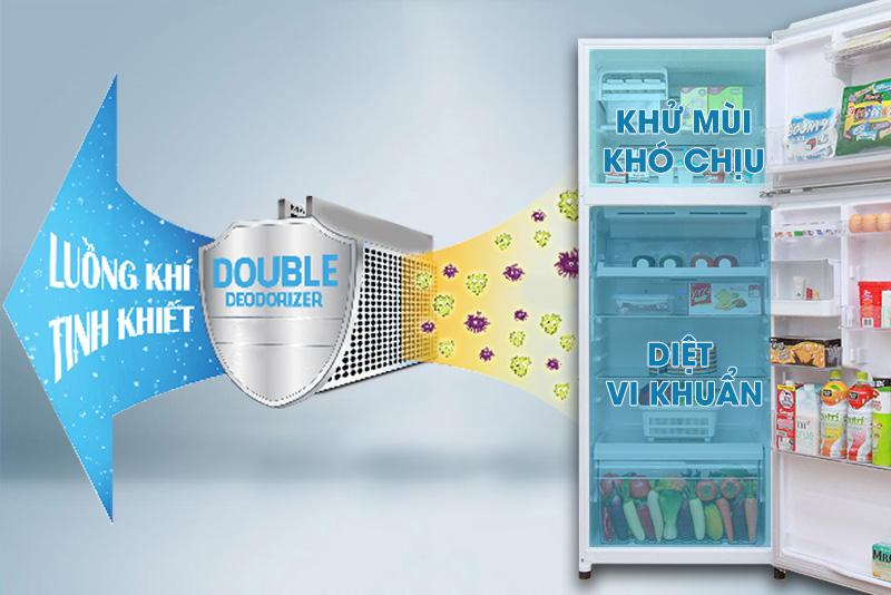 Double Deodorizer giúp thực phẩm luôn tươi ngon