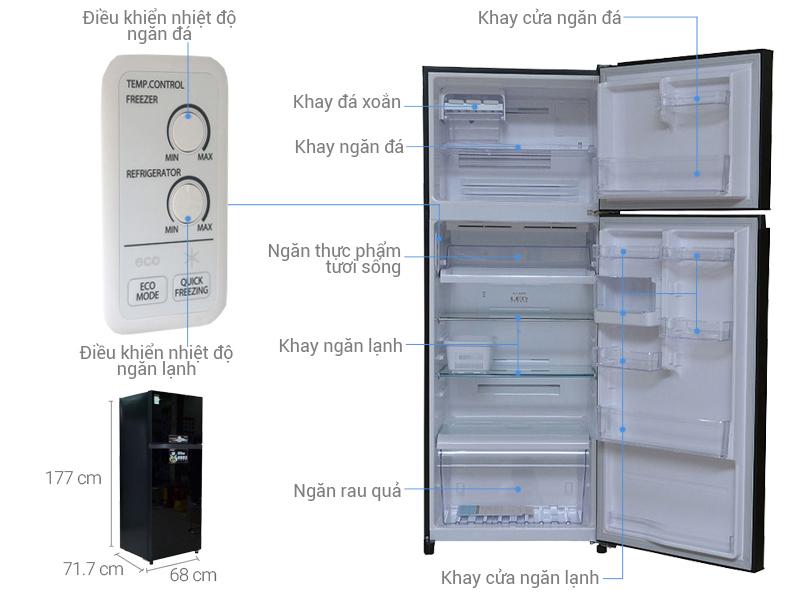 Thông số kỹ thuật Tủ lạnh Toshiba 409 lít GR-TG46VPDZ (XK1)