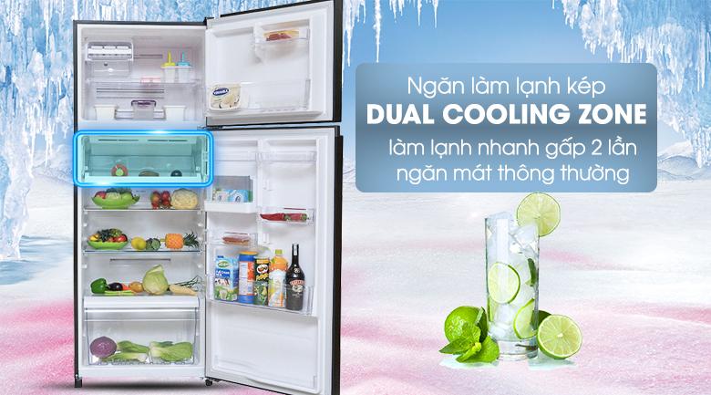 Ngăn làm lạnh nhanh Dual Cooling Zone - Tủ lạnh Toshiba Inverter 409 lít GR-TG46VPDZ