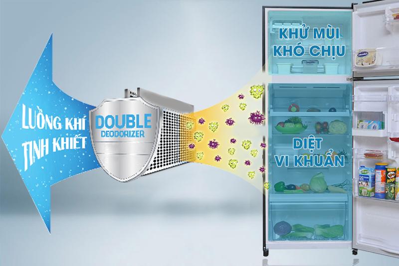 Double Deodorizer giữ thực phẩm tươi ngon, tròn vị