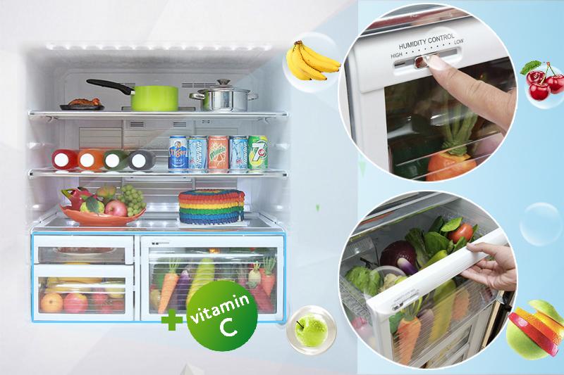 Ngăn rau quả tạo vitamin