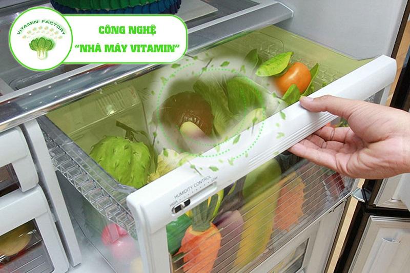 Cùng với đó, tủ lạnh Mitsubishi Electric còn là nhà máy Vitamin khi cung cấp môi trường có ánh sáng mặt trời giả lập