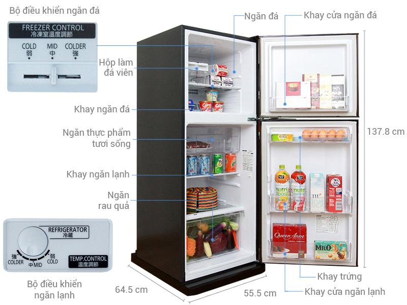 Thông số kỹ thuật Tủ lạnh Mitsubishi Electric 204 lít MR-FV24J-BR-V