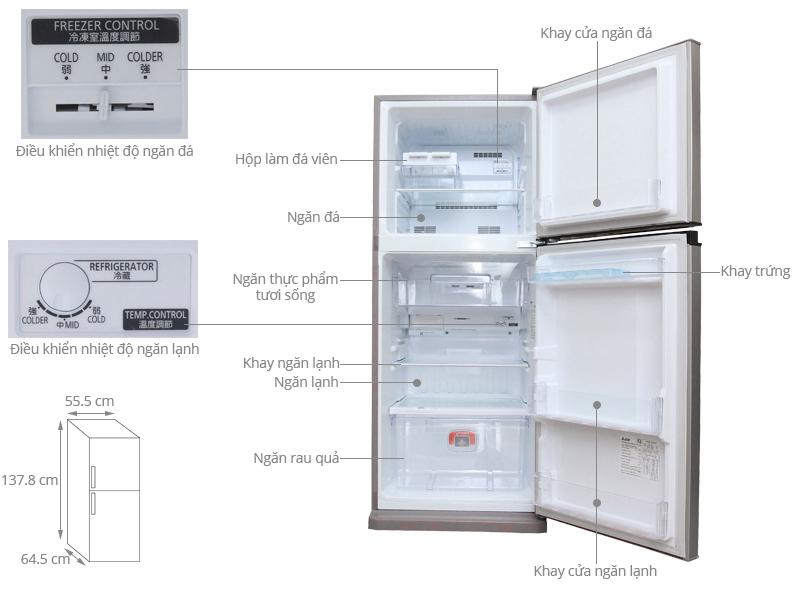 Thông số kỹ thuật Tủ lạnh Mitsubishi Electric MR-FV24J-PS-V 204L