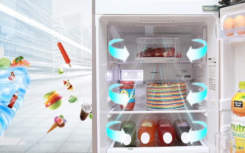 Công nghệ làm lạnh đa chiều của tủ lạnh Mitsubishi Electric MR-FV24J-PS-V đem lại khả năng làm lạnh hiệu quả