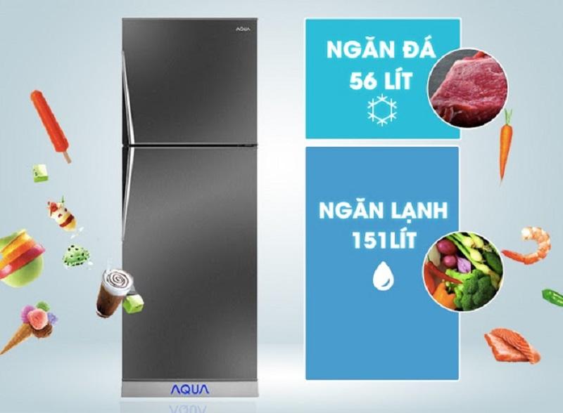 Tủ lạnh Aqua 207 lít AQR-P235BN mang gam màu có phần hơi lạ mắt