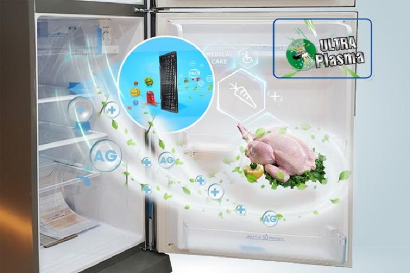 Ultra Plasma không chỉ diệt vi khuẩn, khử mùi cho tủ lạnh Aqua 207 lít AQR-P235BN mà còn giải lượng dư phân nitrat