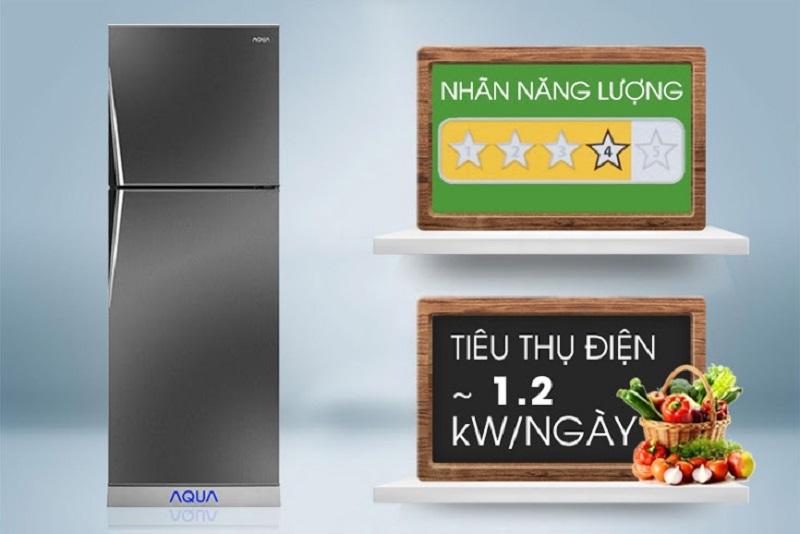 Tủ lạnh Aqua 207 lít AQR-P235BN có đến 4 sao được đánh giá trong Nhãn năng lượng